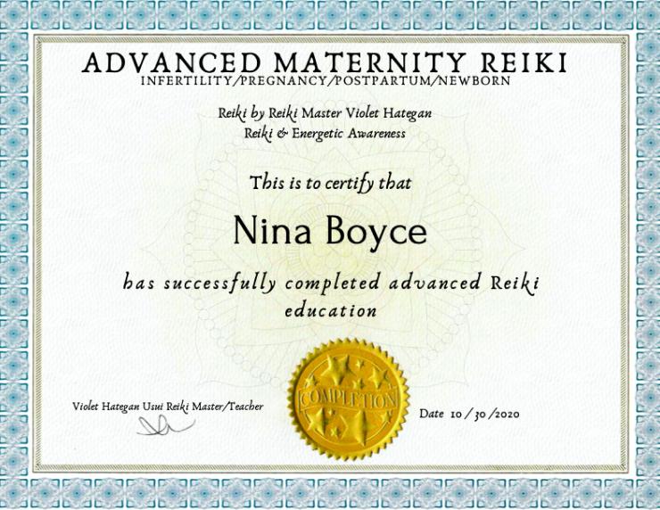 Advanced Maternity Reiki Certification