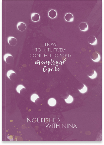 E-Book Cover: How to Intuitively Connect to your Menstrual Cycle